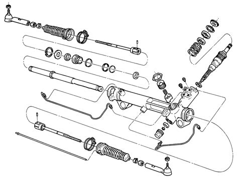 rack and pinion steering diagram camry rack and pinion cylinder diagram fig fig 1