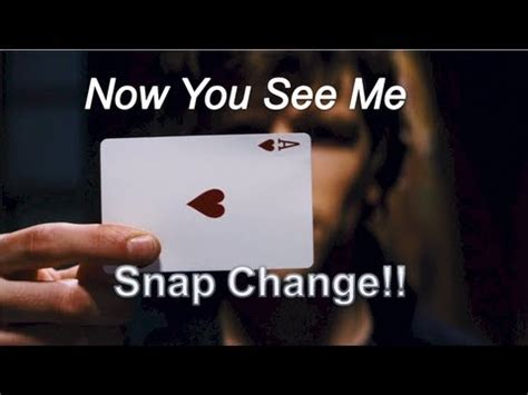 secrets things that look how small changes in design lead to a big jump in sales books now you see me david blaine card trick snap change