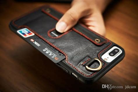 luxury leather cell phone case wallet case card