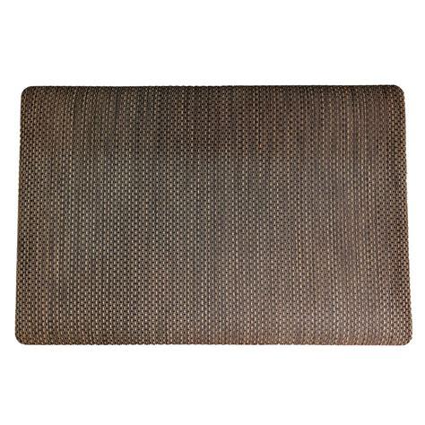 comfort chef kitchen mats chef s design black wicker 24 in x 36 in comfort mat