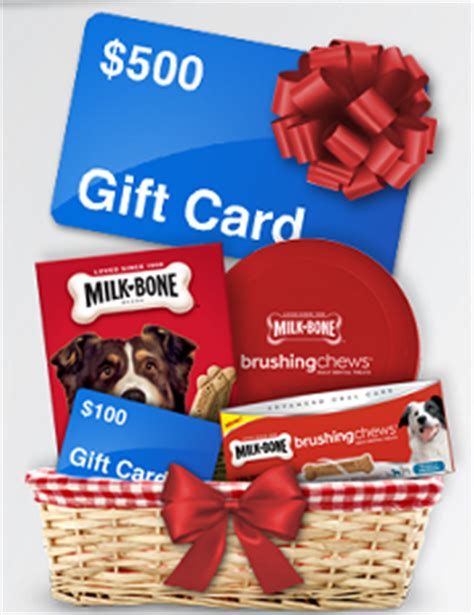 Milk Gift Cards - milk bone gift basket and 500 walmart gift card giveaway shareyourfreebies