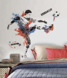 Giant Wall Sticker Rmk2490gm Men S Soccer Champion Giant Wall Stickers