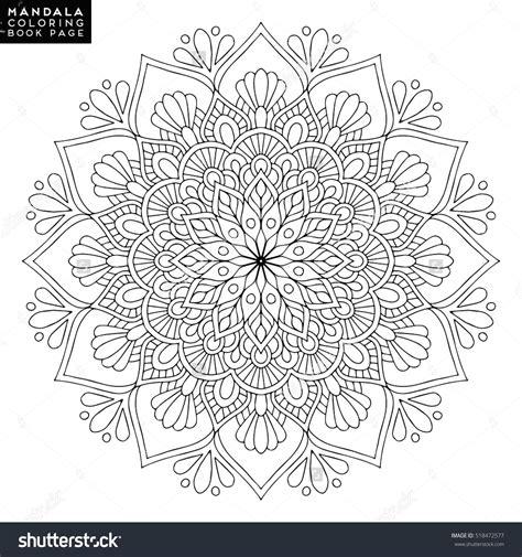 mandalas coloring book mandala vector floral flower coloring book page