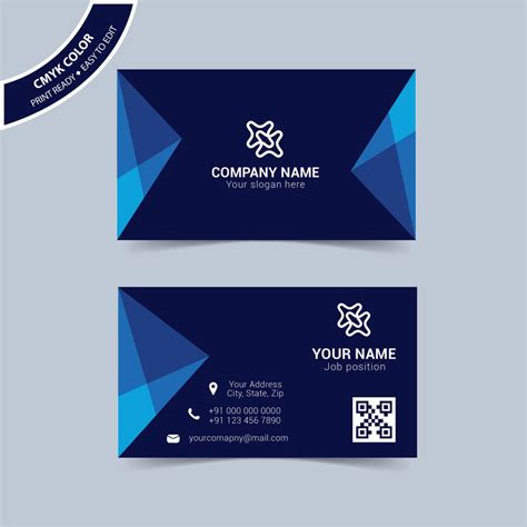 free business card templates modern blue business card template free wisxi