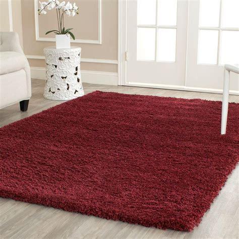 maroon shag safavieh california shag maroon 4 ft x 6 ft area rug
