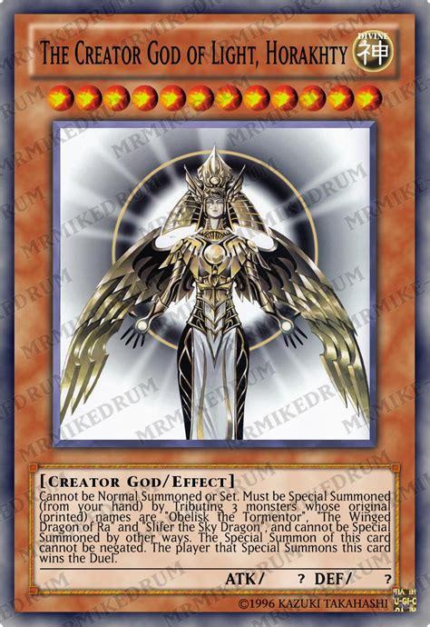 yugioh orica the creator god of light horakhty holo ebay