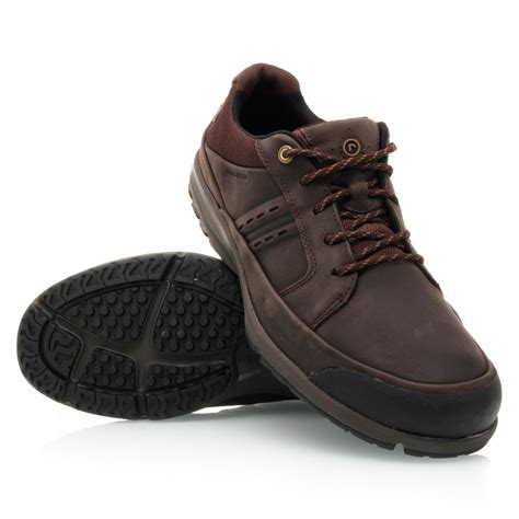 rockport sc blucher lace up mens walking shoes brown