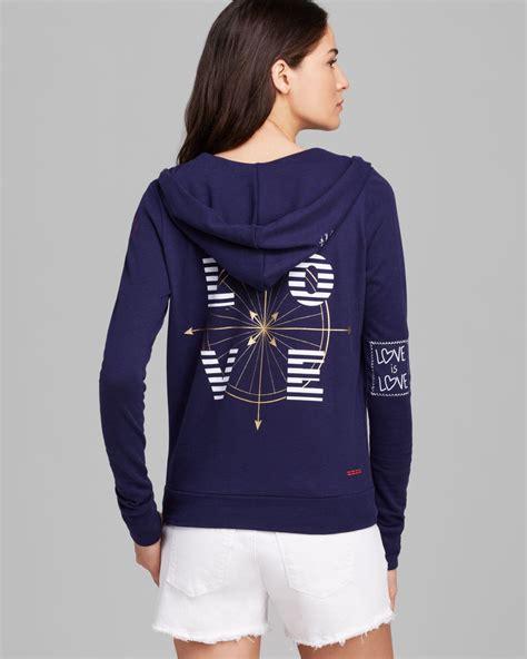 Hoodie Laboratories Biru Navy Noval Clothing peace world hoodie navy compass in blue lyst