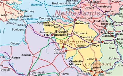 map of germany and belgium germany map germany railroads