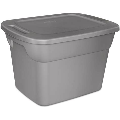 18 gallon storage containers 8 plastic storage tote box stackable 18 gallon gray