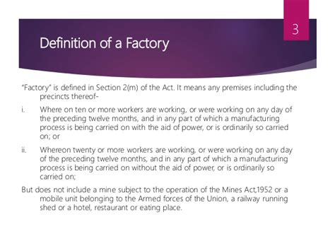 Factories Act 1948 Mba Notes by The Factories Act 1948