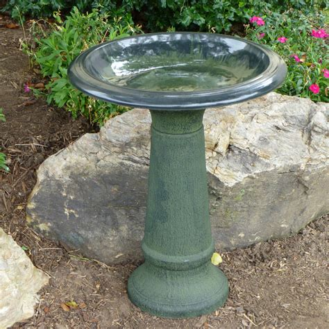 wooden bird bath natural how to make