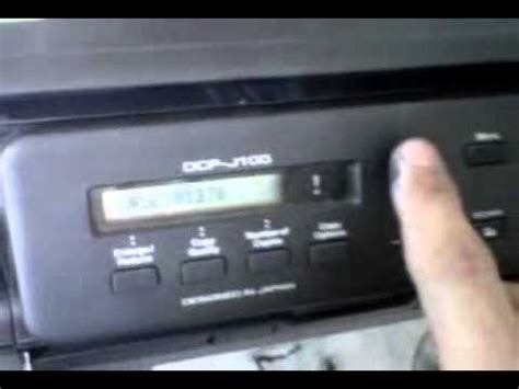 how to reset brother dcp j100 printer brother printer j100 reset purge counter atau unable to