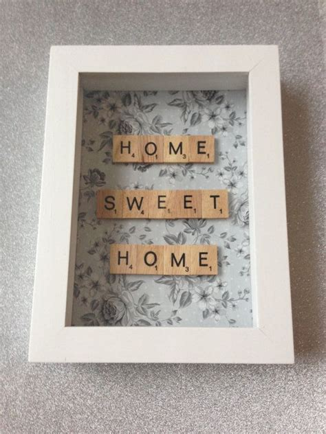 fe scrabble word home sweet home scrabble word frame new home by