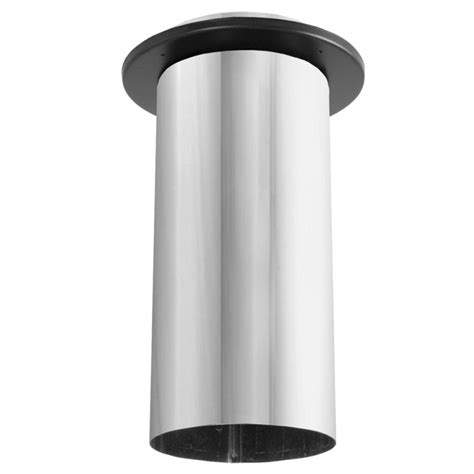 10 Inch Stainless Steel Stove Pipe Single Wall by Duravent 9dbk X10 Black 9 Quot To 10 Quot Inner Diameter