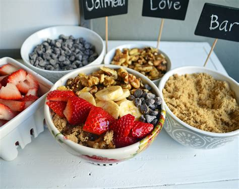 toppings bar the oatmeal love toppings bar modern honey