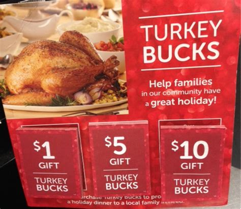 time to give back with turkey bucks super safeway