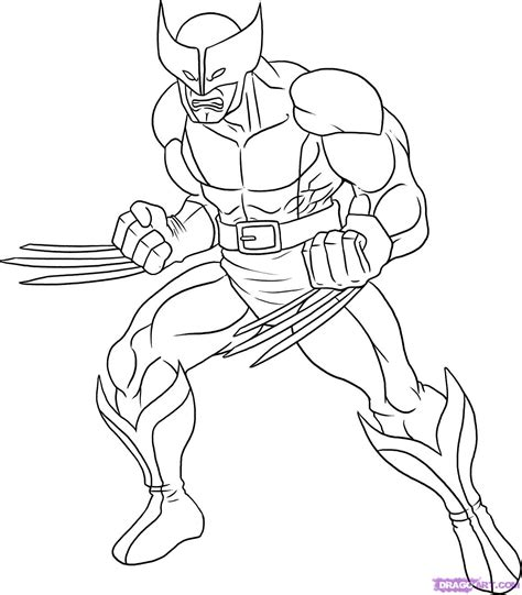 Free Coloring Pages Of X Men Logo Color Your Own Wolverine