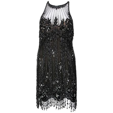 Dress Bobo bob mackie 20s inspired beaded gatsby flapper dress for