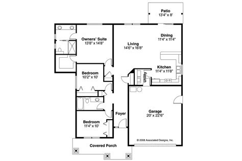 Craftsman Home Floor Plans by Craftsman House Plans Caraville 30 721 Associated Designs