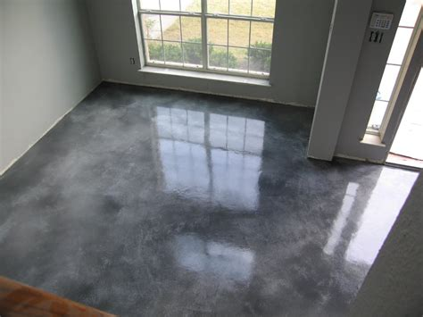 Stained Concrete Floors by Acid Stained Overlay I Am Thinking Of Doing Something