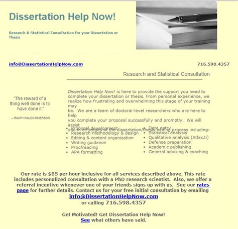 dissertation assistance masters dissertation services references