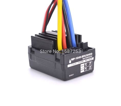 Esc Brushed Wp 1040 Waterproof aliexpress buy brand new wp 1040 60a brushed esc controller waterproof for hobbywing