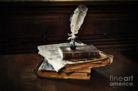 painting in the books books and a quill photograph by machare