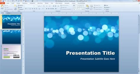 Free Templates For Microsoft Powerpoint 2007 by Free Marketing Powerpoint Template Free Powerpoint