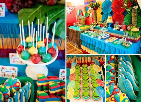 southern blue celebrations tropical luau party ideas