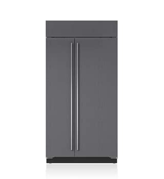 sub zero side by side 5697 built in refrigerators stainless steel custom panels