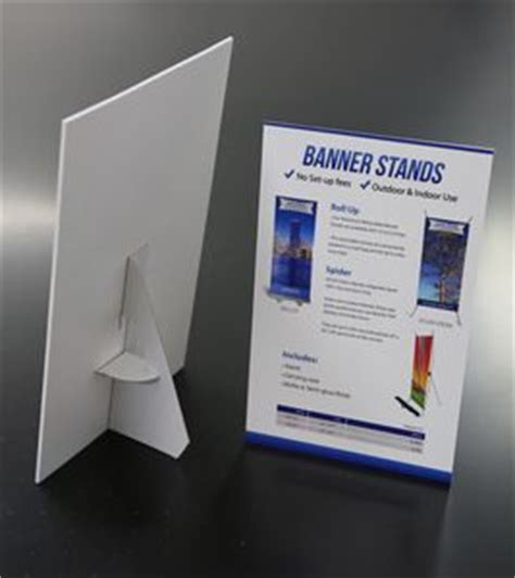 table top signs table top pvc easel miami banner printing