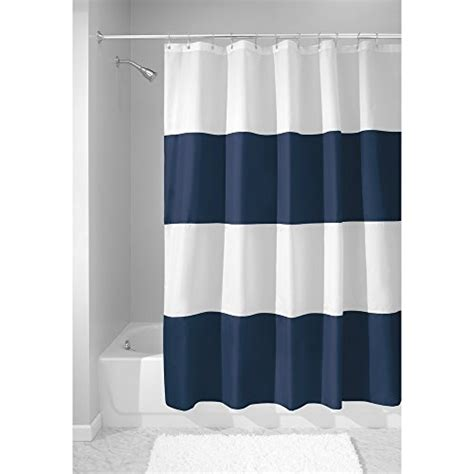 navy white striped shower curtain compare price to navy striped shower curtain