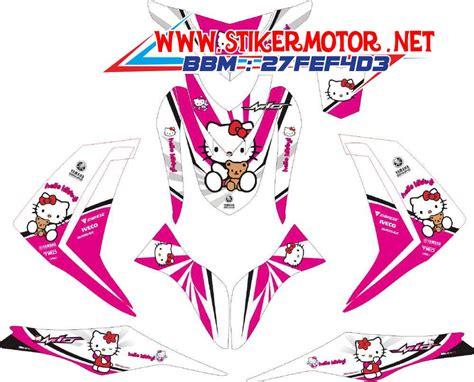 Striping Yamaha Mio Hello Kity2 striping motor mio m3 hello kity stikermotor net stikermotor net
