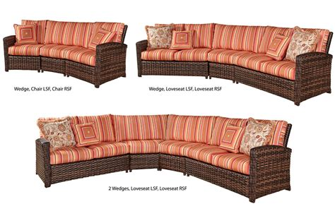 one piece sectional huntington one arm loveseat right side sectional piece