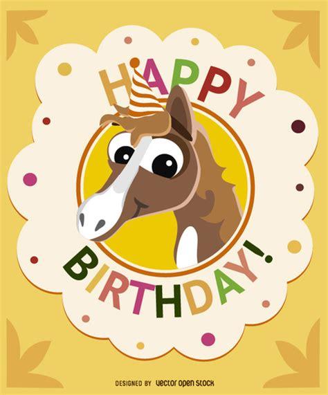 imagenes de feliz cumpleaños con caballos cumplea 241 os tarjeta de felicitaci 243 n del caballo descargar
