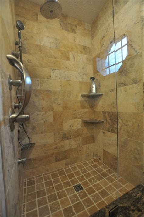 Tuscan Bathroom Decorating Ideas tuscan wave stone shower eclectic bathroom
