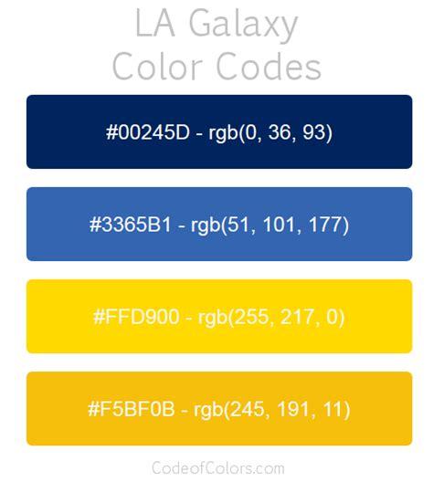 la galaxy team color codes mls team colors
