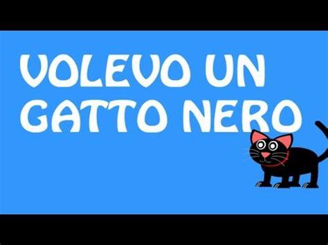 il gatto puzzolone testo volevo un gatto nero con testo with lyrics italian and