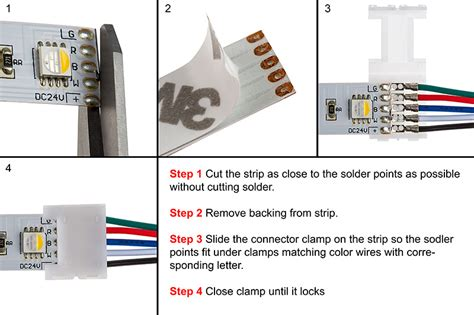 how to install flex led light strips 5 contact 14mm flexible light strip interconnect for rgbw