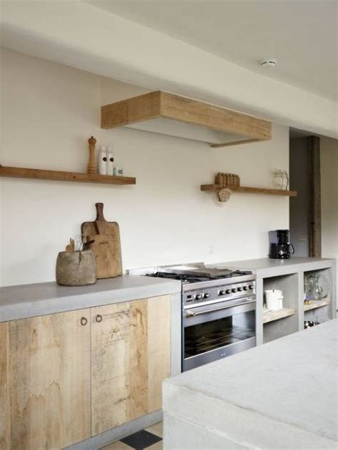Concrete And Wood Kitchen by Simple Wood And Concrete Kitchen Ideas For Home