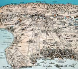 california points of interest map los angeles map points of interest