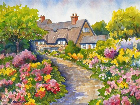 Cottage Of Flowers by Mel Wolf Recent Work