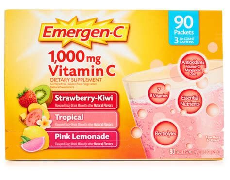 Suplemen Soloco Chocolate For Multivitamin Trial Pack boxed emergen c 1000 mg vitamin c 90 count variety pack