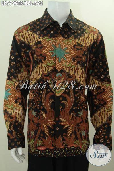 Elegan Pakaian Kemeja Batik Motif Melati kemeja batik mewah 3l pakaian batik premium untuk lelaki gemuk berbahan halus motif elegan
