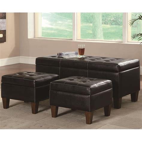black leather ottomans coaster 508010 black leather ottoman set a sofa