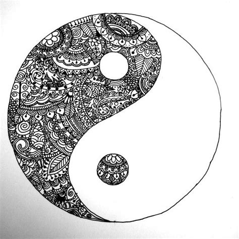 doodle god yin yang my yin yang zentangle the in the bad the bad in