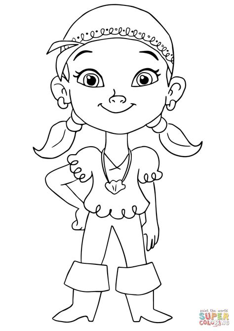 jake and the neverland pirates izzy free colouring pages
