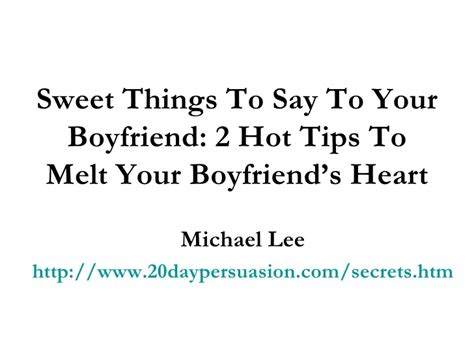 cute things to tell your boyfriend quotes