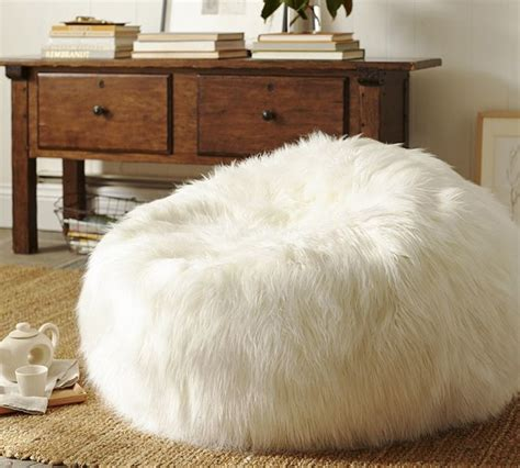 big white fluffy bean bag faux fur bean bag chairs